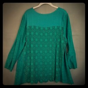 Long sleeve Anthro top